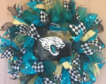 Jacksonville Jaguars mesh wreath