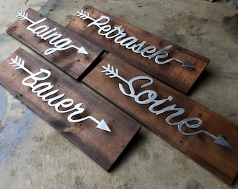 Arrow Word Sign - 2 Feet long