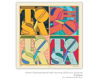 Tosa Pop Art – Wauwatosa, Wisconsin Art Print (Milwaukee County) by James Steeno