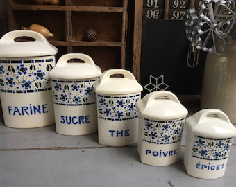 Set of old spice jars