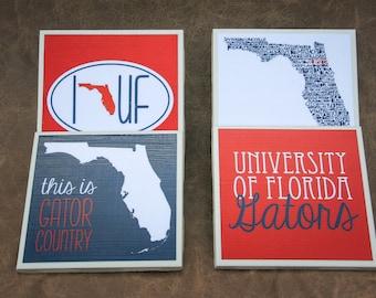 4 Florida Gators Coasters