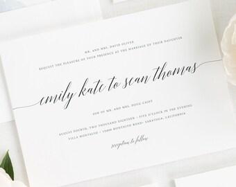 Delicate Romance Wedding Invitations - Deposit
