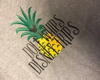 Disney Dole Whips Disney Trips Pineapple Womens t-shirt Disneyland Disney World