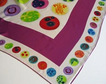 Rainbow of Petri Dishes  -  Silk Charmeuse Scarf