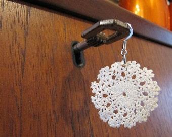 Vintage doily earrings