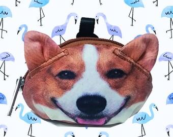 dog corgi coin corgi purse dog coin coin  purses