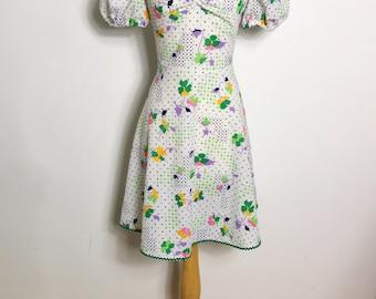 Fabulous 1960s Tom & Tina Bright Floral Mini Dress, Medium