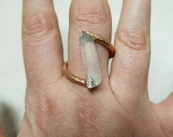 Clear Quartz point ring