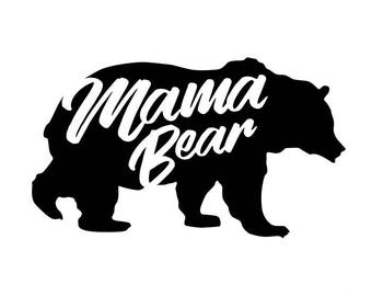 Mama Bear SVG cut file for Cricut, Silhouette, Cameo or other cutting device, vinyl transfer Svg cut file