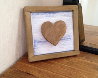Rustic Reclaimed Wooden Heart