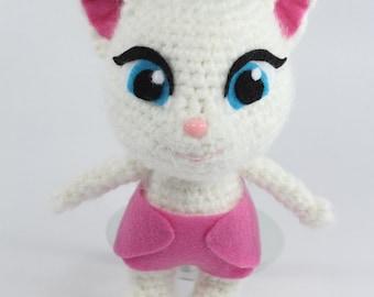 PATTERN: Angela the Toddler Kitten Crochet Amigurumi Doll