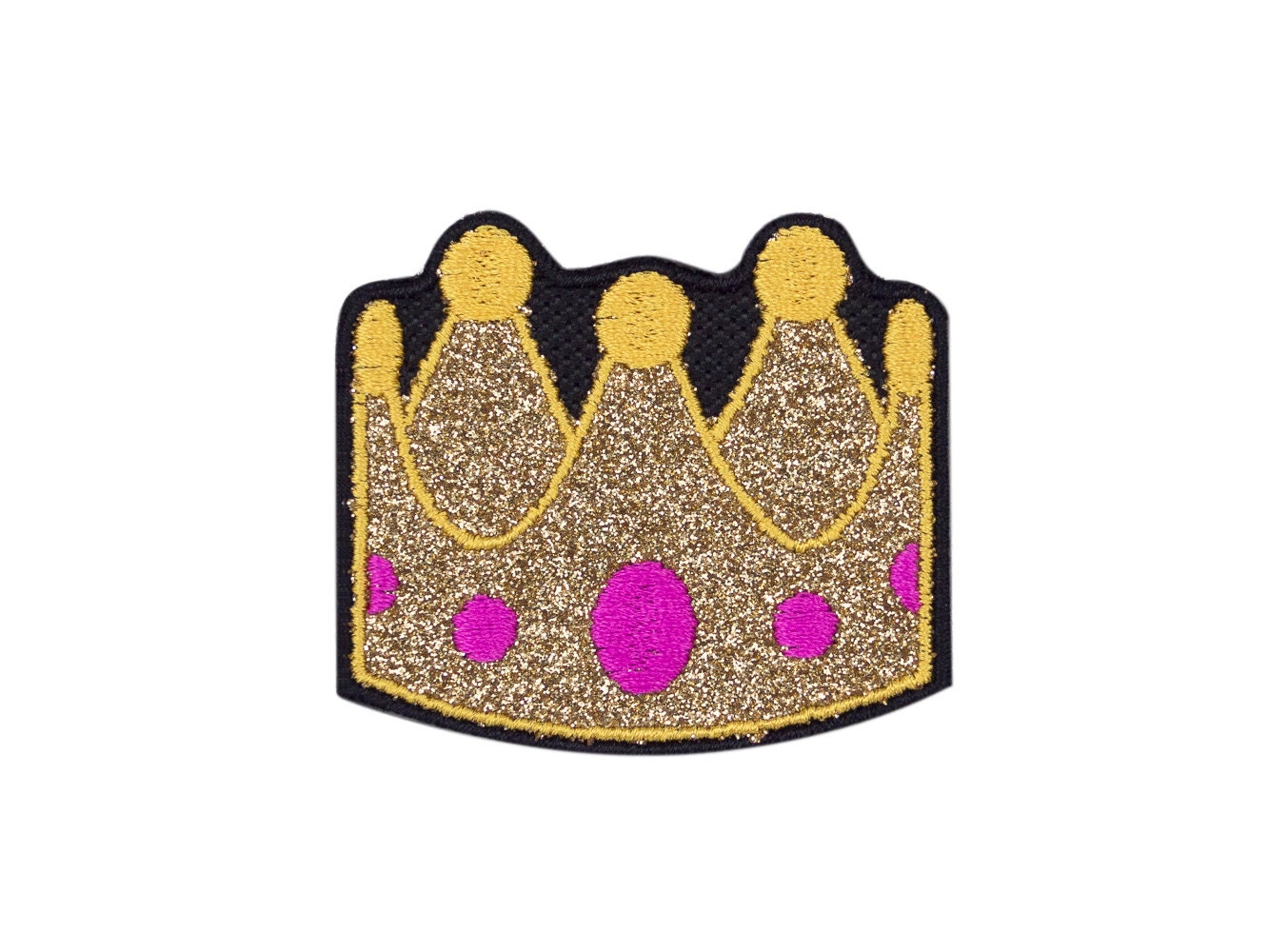 Crown tiara emoji embroidered iron on patch free shipping zoom biocorpaavc Gallery