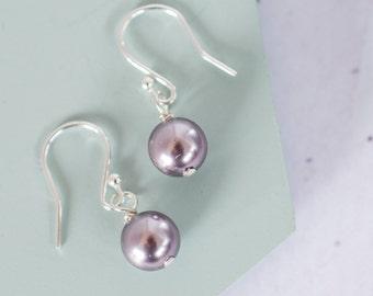 Lilac Pearl Earrings, Lilac Bridesmaid Earrings, Lilac Pearl Jewellery, Lilac Pearl Bridesmaid Jewellery, Lilac Pearl Bridesmaid Earrings,