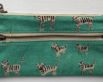 Zipper pouch - zipper bag - wallet - clutch