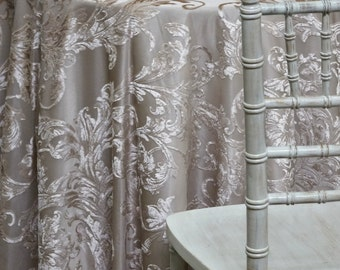 Victorian Jacquard Sheer In Taupe   Ideal For Events, Parties U0026 Home Decor