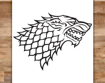 Game of Thrones Decal - House Stark Decal Game of Thrones Banner Winterfell Direwolf Sigil The North Remembers Winter Is Coming