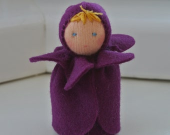 Small Violet Fairy in Steiner Waldorf Style