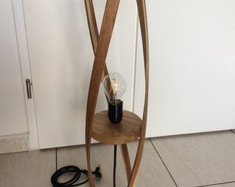 Solid oak lamp