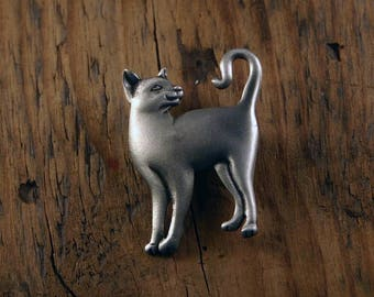 Question Mark Cat Brooch