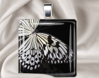 Butterfly Wing Pendant - Glass Tile Image Pendant