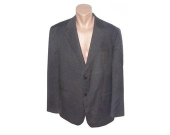 Men wool blazer Sport coat Mens Vintage Formal blazer Suit blazer Gents jacket striped W6K6kaT