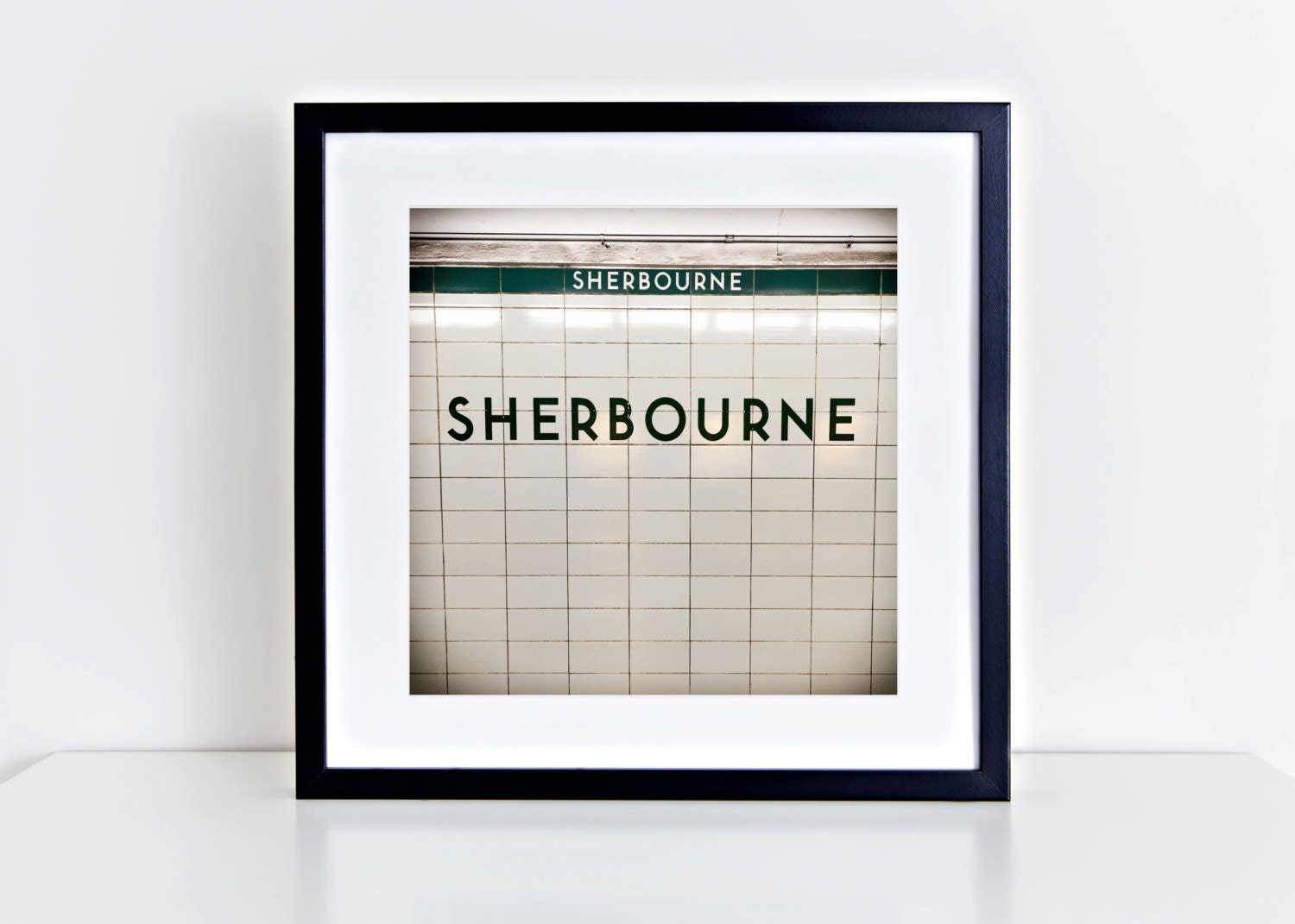 Toronto Subway Sherbourne Station Sign Print Square Wall Art