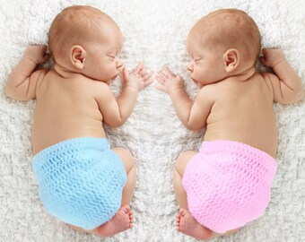 Crochet Baby Bloomers, diaper cover, infant bloomers
