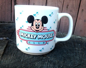 Nostalgic Retro Mickey Mouse Club Coffee Mug Late 80s/Early 90s