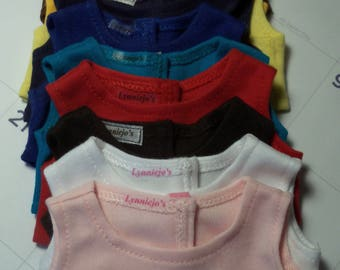 American Made 18 inch Doll Sleeveless Crop Top / Choice of 10 Colors