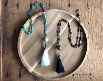 Tassel Necklace // Long Tassel Necklace, Black Tassel Necklace, White Tassel Necklace, Turquoise Tassel Necklace, Boho Tassel Necklace