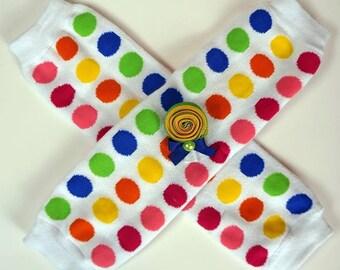 Lollipops and Polka Dots- legwarmers set