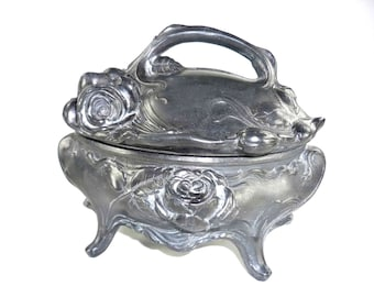 Art Nouveau Jewelry Casket Trinket Box WB Mfg Co 4300 Weidlich Bros