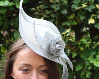 Stunning Sidesweep Headpiece with Sinamay Roses