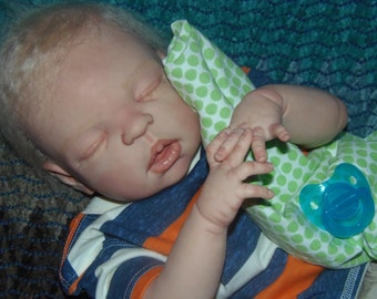 Custom reborn baby boy! anatomically correct, full bodied, soft squishy silicone like vinyl! Must see!