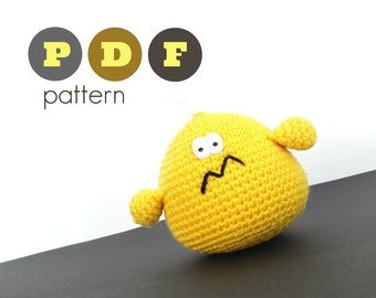 PDF Amigurumi extra large chicken pattern. Instant download file written in English (US terminology) and in Greek