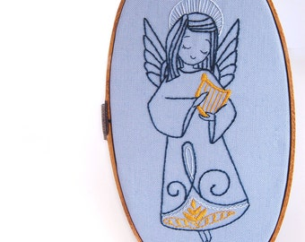 Holiday Hand Embroidery Pattern Collection Christmas Angel Embroidery Patterns from SeptemberHouse