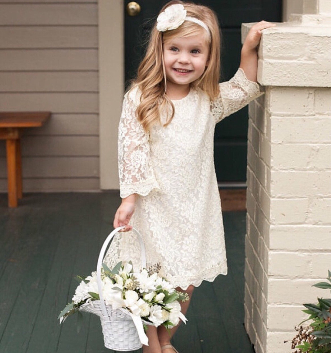 Dresses ivory lace