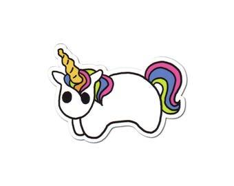 Rainbow Unicorn Sticker, Pony Laptop Sticker, Car Sticker, Skateboard Sticker, Vinyl Sticker, Horse Sticker, Rainbow Horse, I