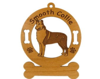 2185 Collie Smooth Personalized Dog Ornament