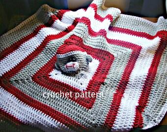 Sock Monkey Toy blankie Crochet Pattern pdf 723