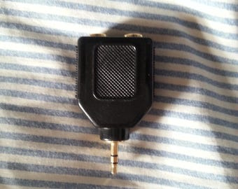 Double 6.35mm to 3.5mm Jack Adaptor