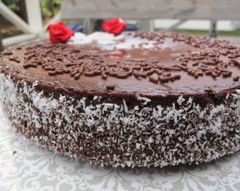 "9"" Vegan cake, chocolate cake, egg free, dairy free, moist - Gift"