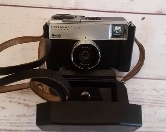 Kodak Instamatic 233 Camera 60 years with a stand-by bag
