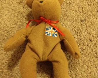 Britannia the Bear - Ty Teenie Beanie Babies - 1996 (Misprint)