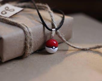 Poke Ball Necklace - Pokemon Anime Jewelry