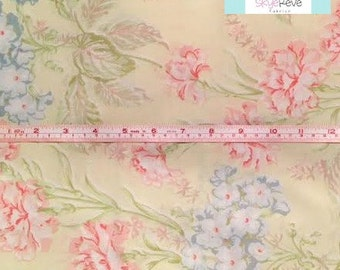 Vintage Pillowcase with Pastel Yellow Floral