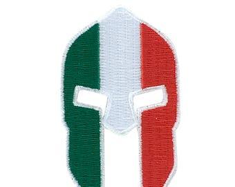 Patch flag applique warrior applique molon labe spartan army helmet italy