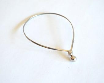 Vintage SILVER-tone collar necklace