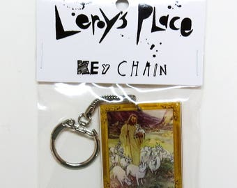 Jesus and His Fat Ass Unicorns Art Key Chain
