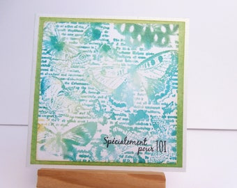 Card all occasions - love and friendship - butterflies